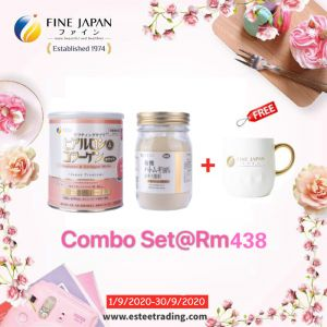 Super Save Combo RM438【1 Fine White Collagen+1 Organic Peacl Coix】+Free 1 Mug Or 6 Sachet Pearl Coix*Pls Remark Gift A,B Or C